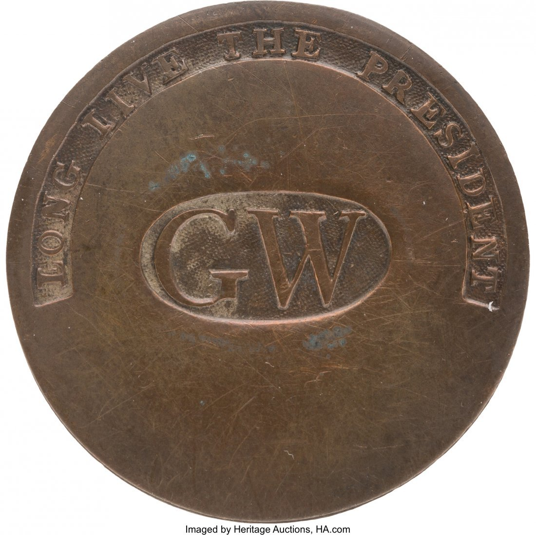 43012: George Washington: High Grade GW in Oval Inaugur