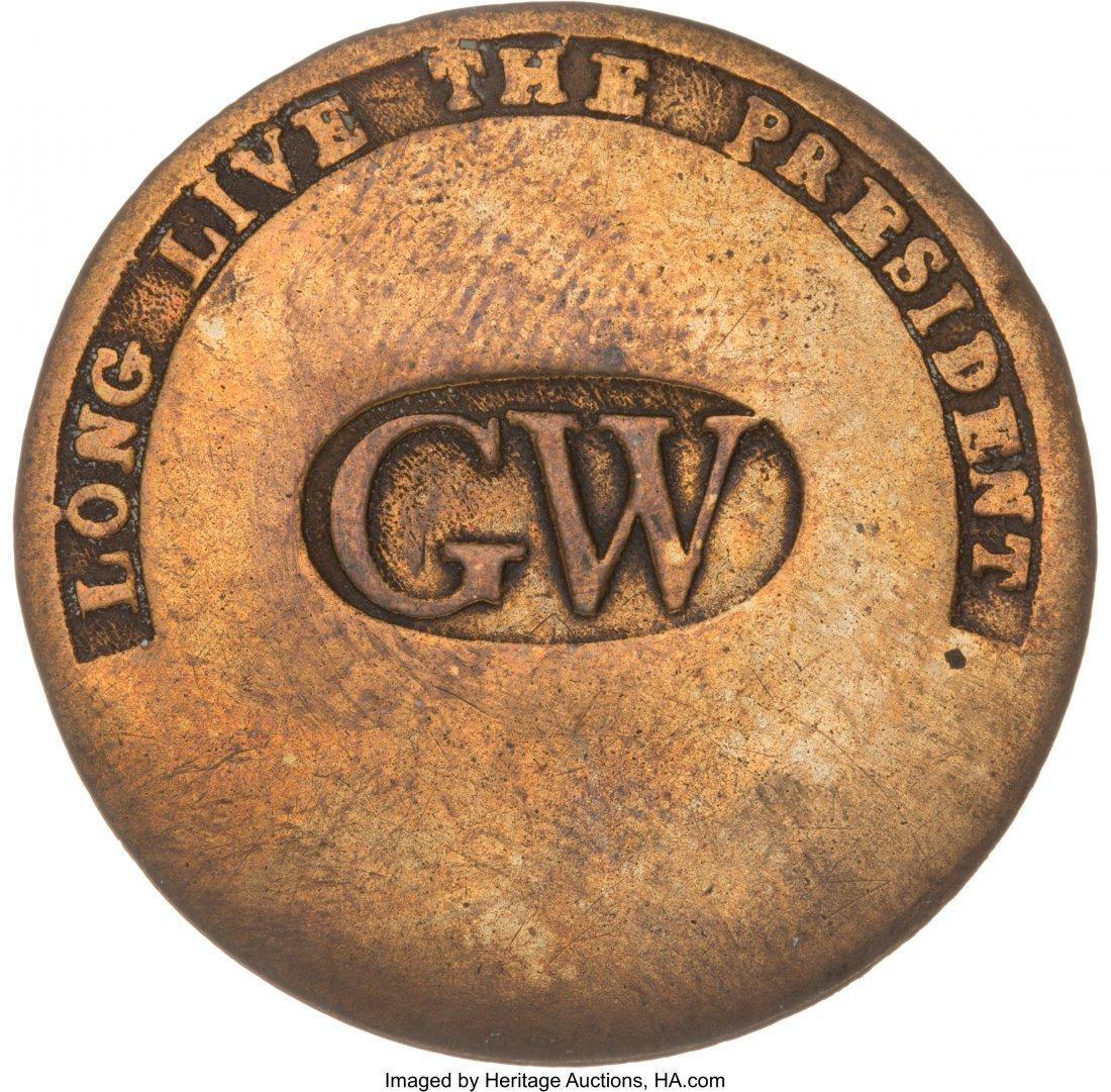 "43014: George Washington: High Grade ""GW in Oval"" Inaug"
