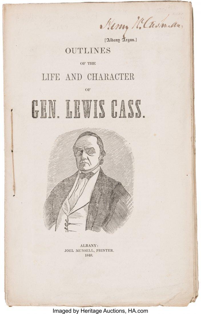 43112: Lewis Cass: 1848 Campaign Biography Imprint.  64