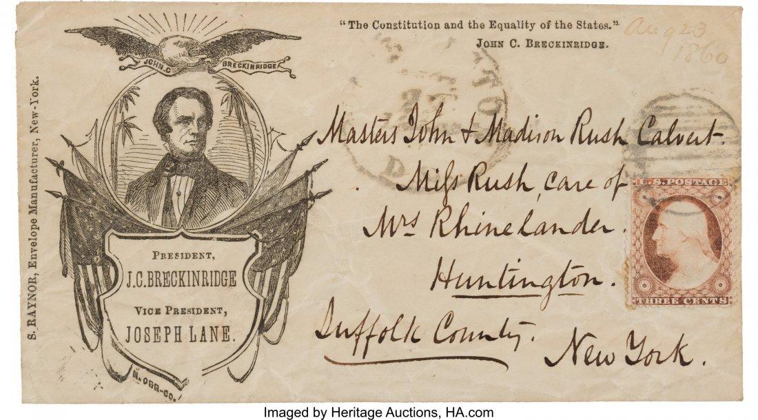 43210: John C. Breckinridge: Rare Postally-used 1860 Ca