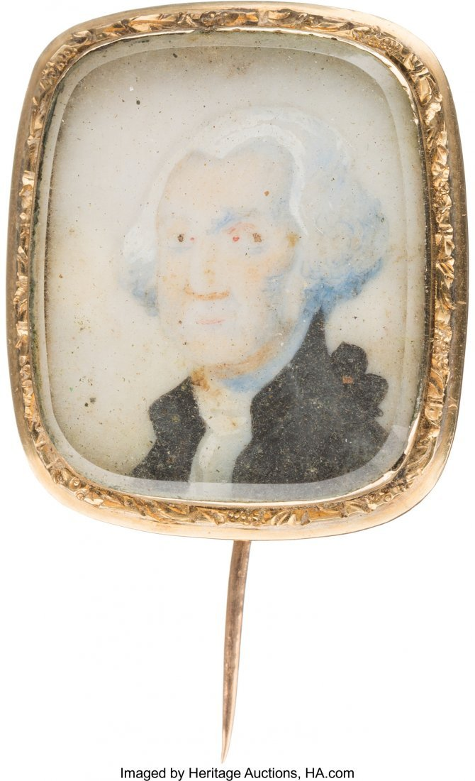 43018: George Washington: Miniature Portrait Brooch.  3