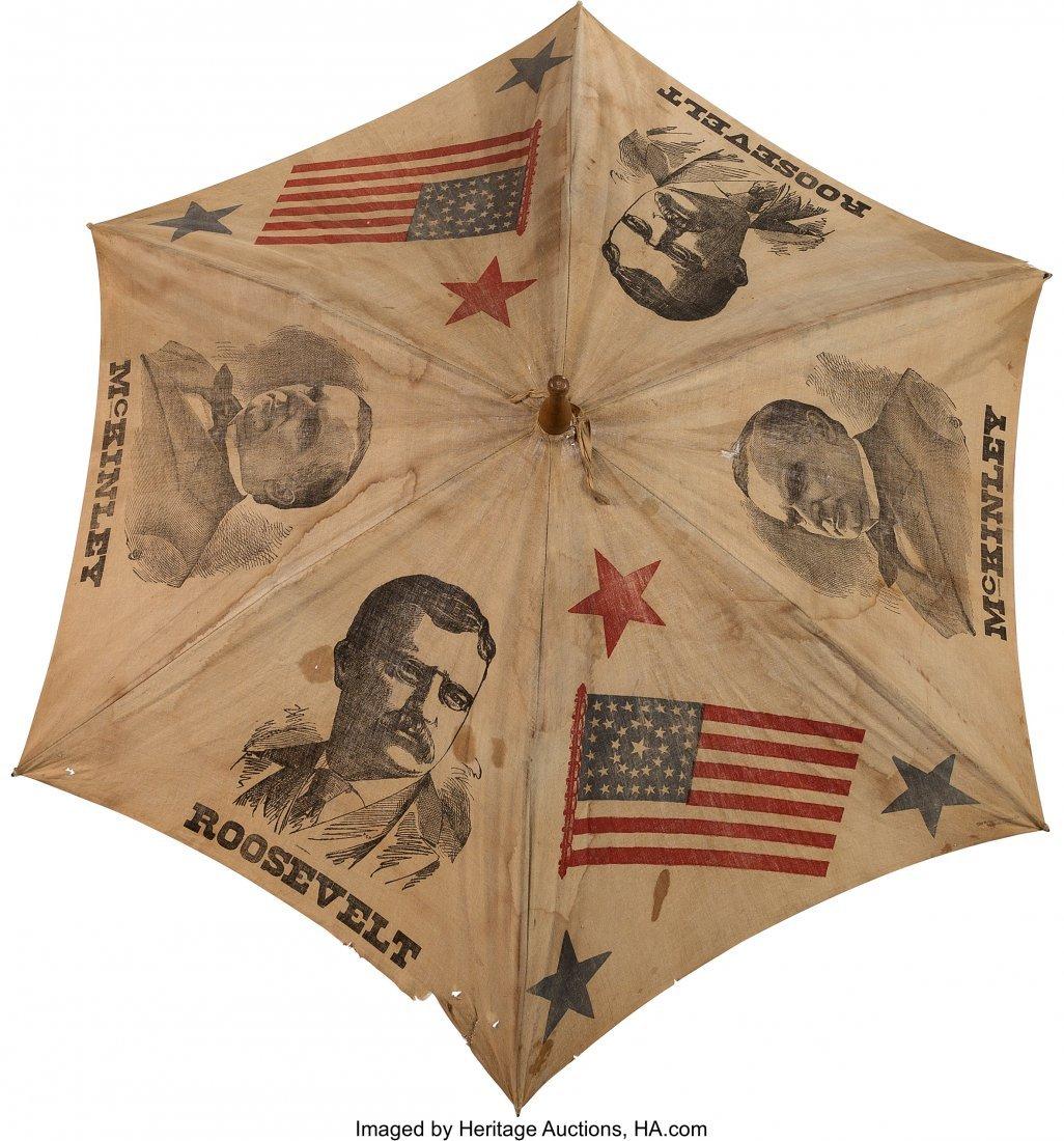 43403: McKinley & Roosevelt: Jugate Campaign Umbrella.