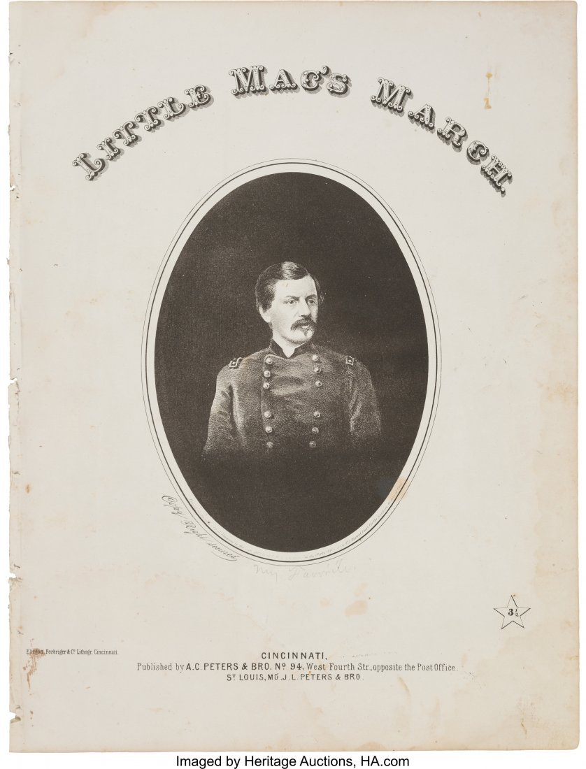 43212: George B. McClellan: Very Scarce 1864-dated Camp