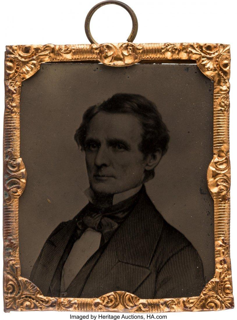 43213: Jefferson Davis: Sixteenth Plate Abbott Tintype.