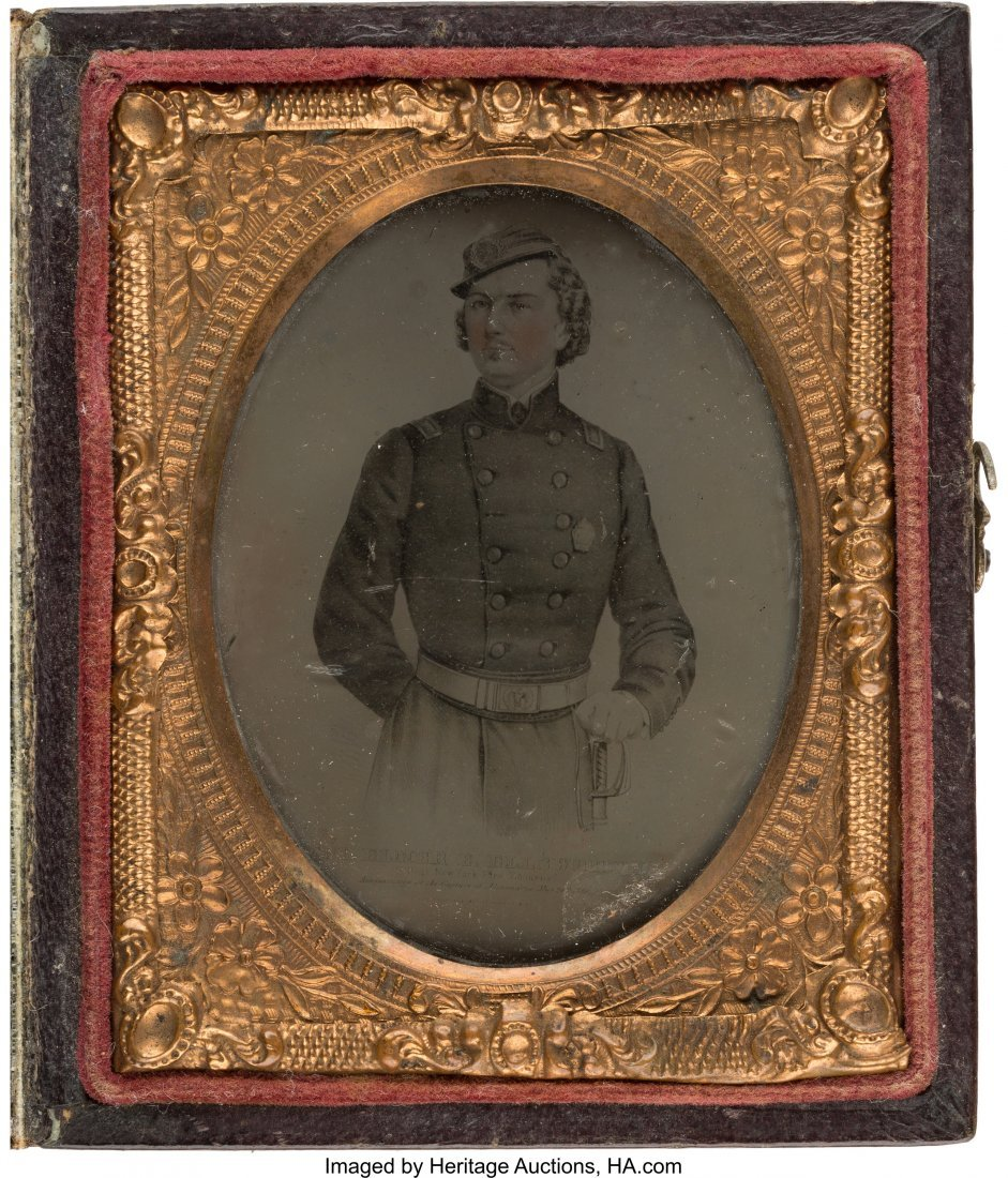 43214: Col. Elmer Ellsworth: Rare Tintype Image of Linc