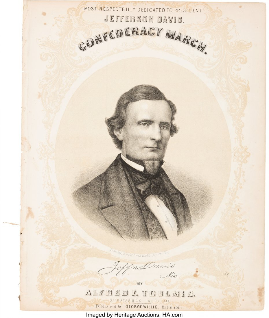 "43218: Jefferson Davis: ""Confederacy March"" Sheet Music"