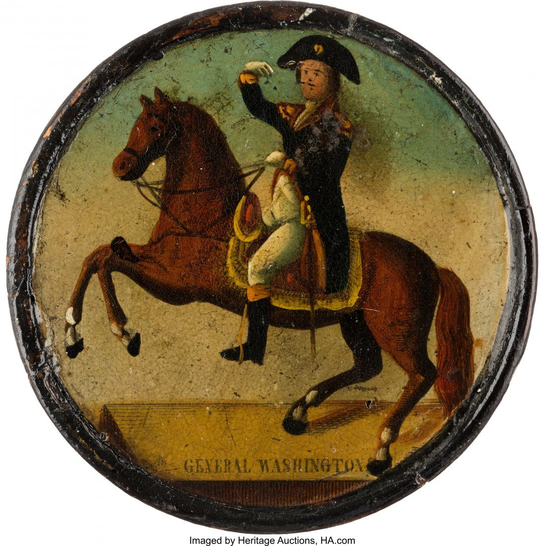43022: George Washington: Fine Lacquered Papier Mâché