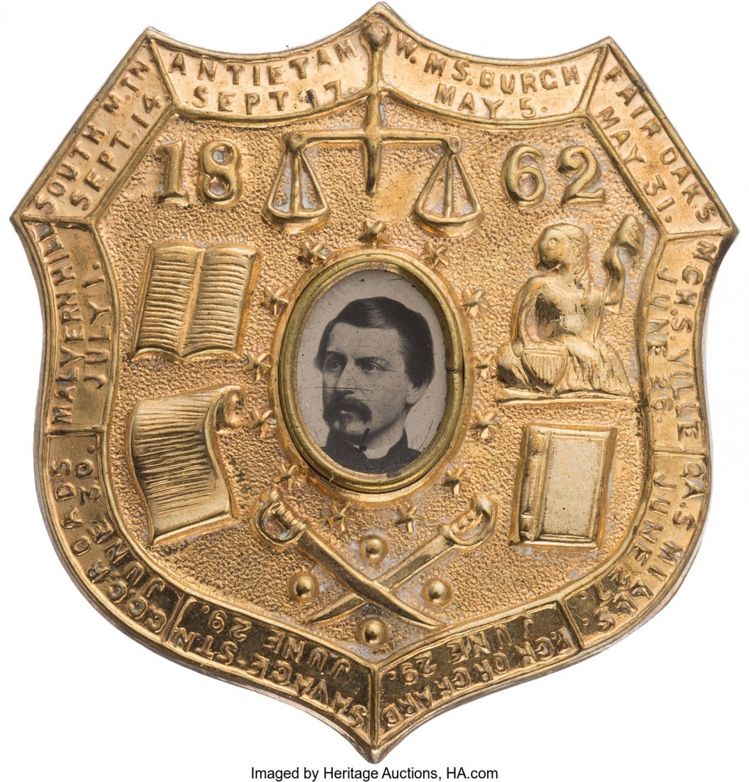 43219: George B. McClellan: Outstanding Shield Ferrotyp