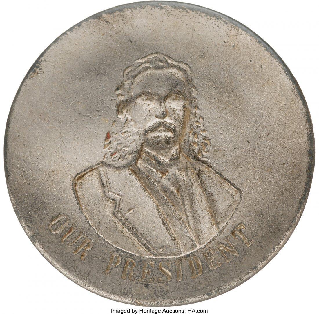43324: Chester A. Arthur: An Extremely Rare Pinback Por