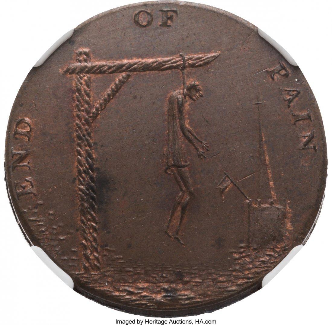 43026: [John Adams]: Thomas Paine Token. PM-1796-2, 29