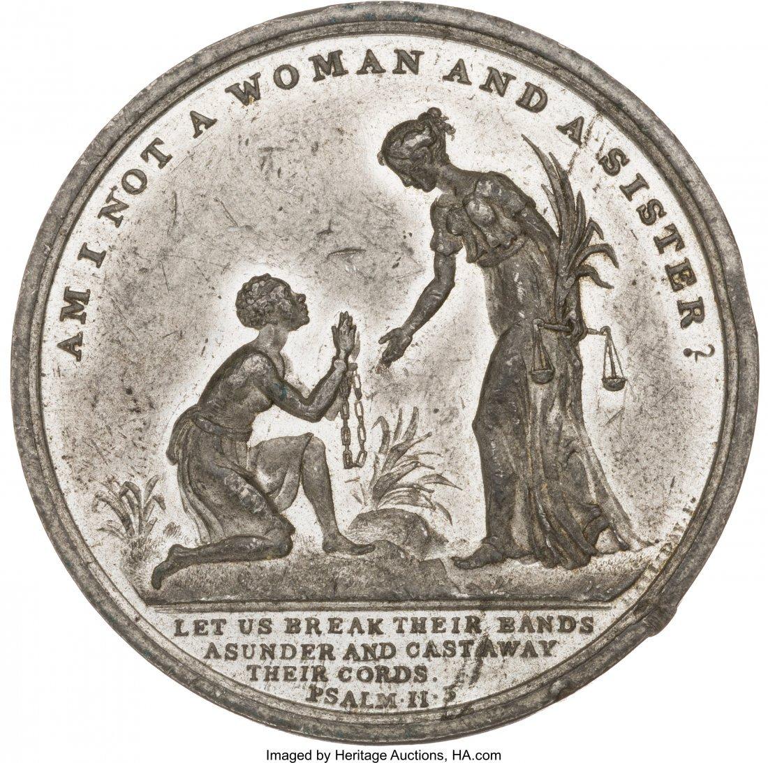 43122: African Americana: Large Anti-Slavery Medal. 41