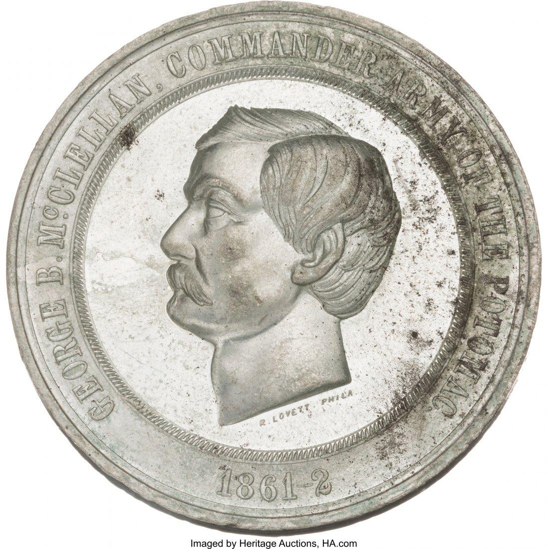 43227: George B. McClellan: High Relief Medal by Lovett