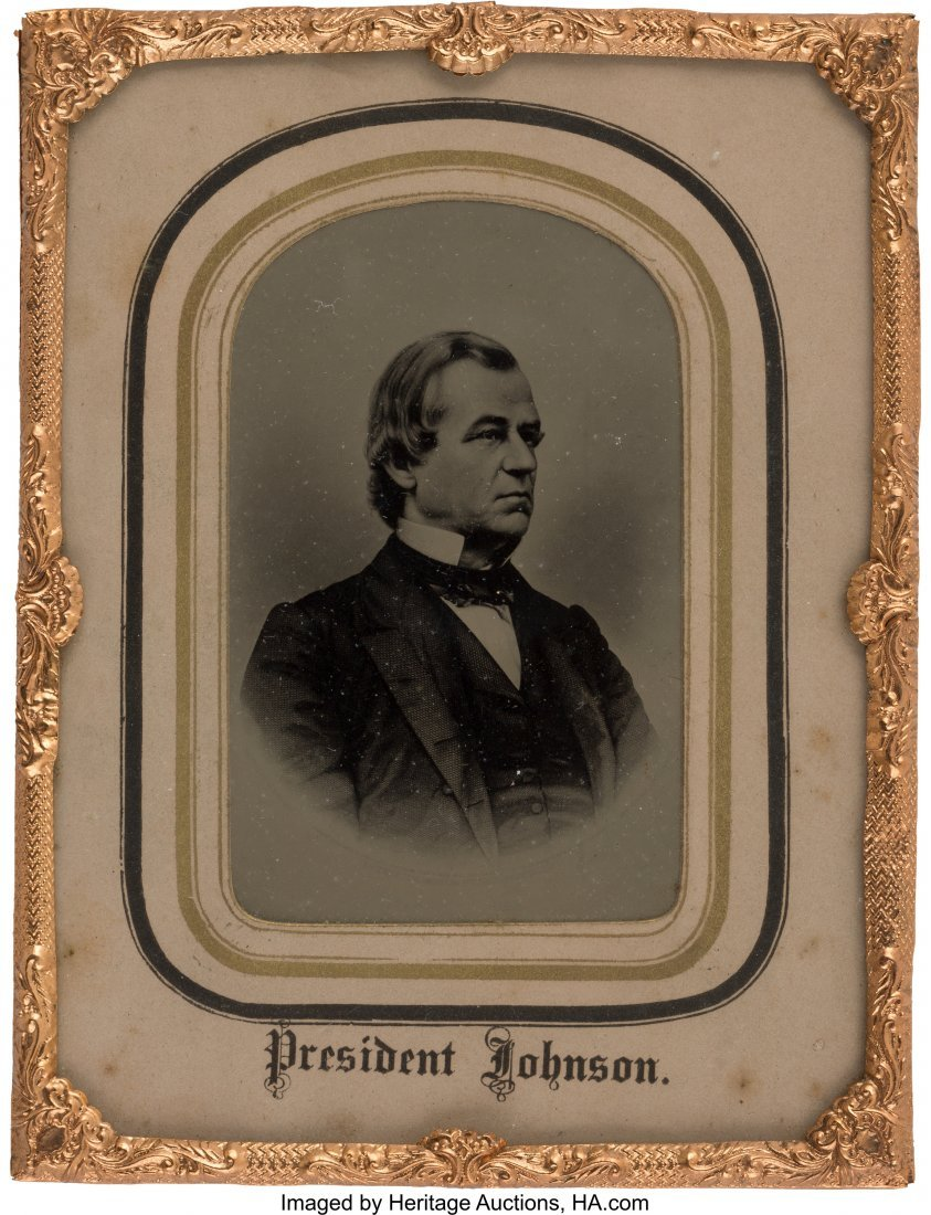 43228: Andrew Johnson: Impressive Large Tintype Image i