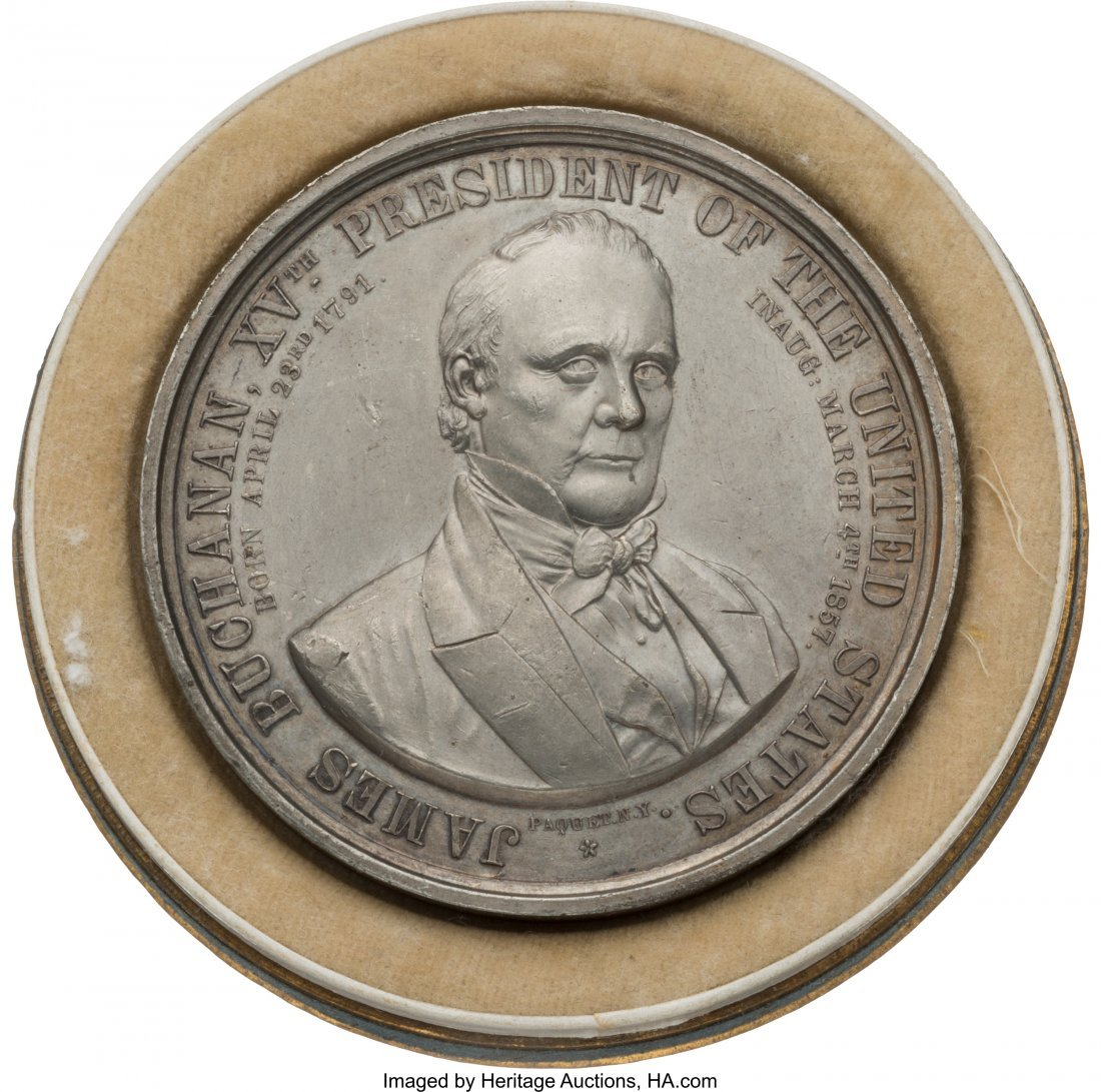 43123: James Buchanan: High Grade Inaugural Token in th