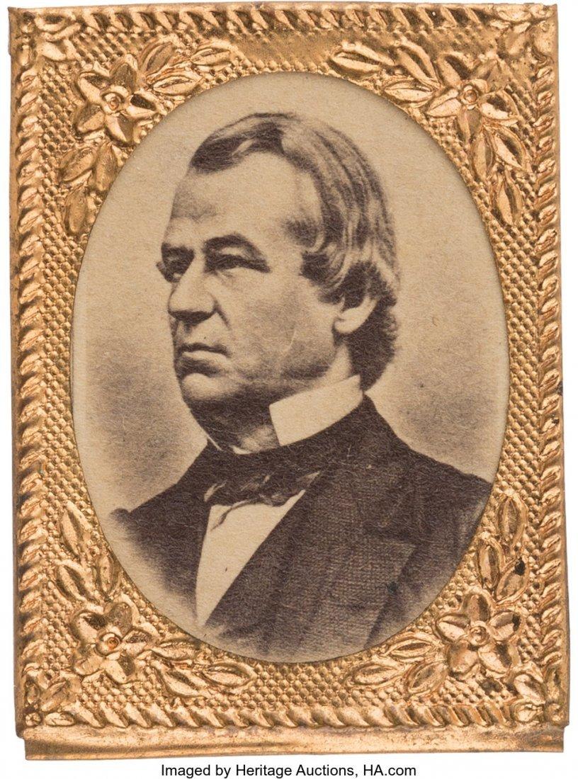 43229: Andrew Johnson: Bold and Crisp Gem Albumen Badge