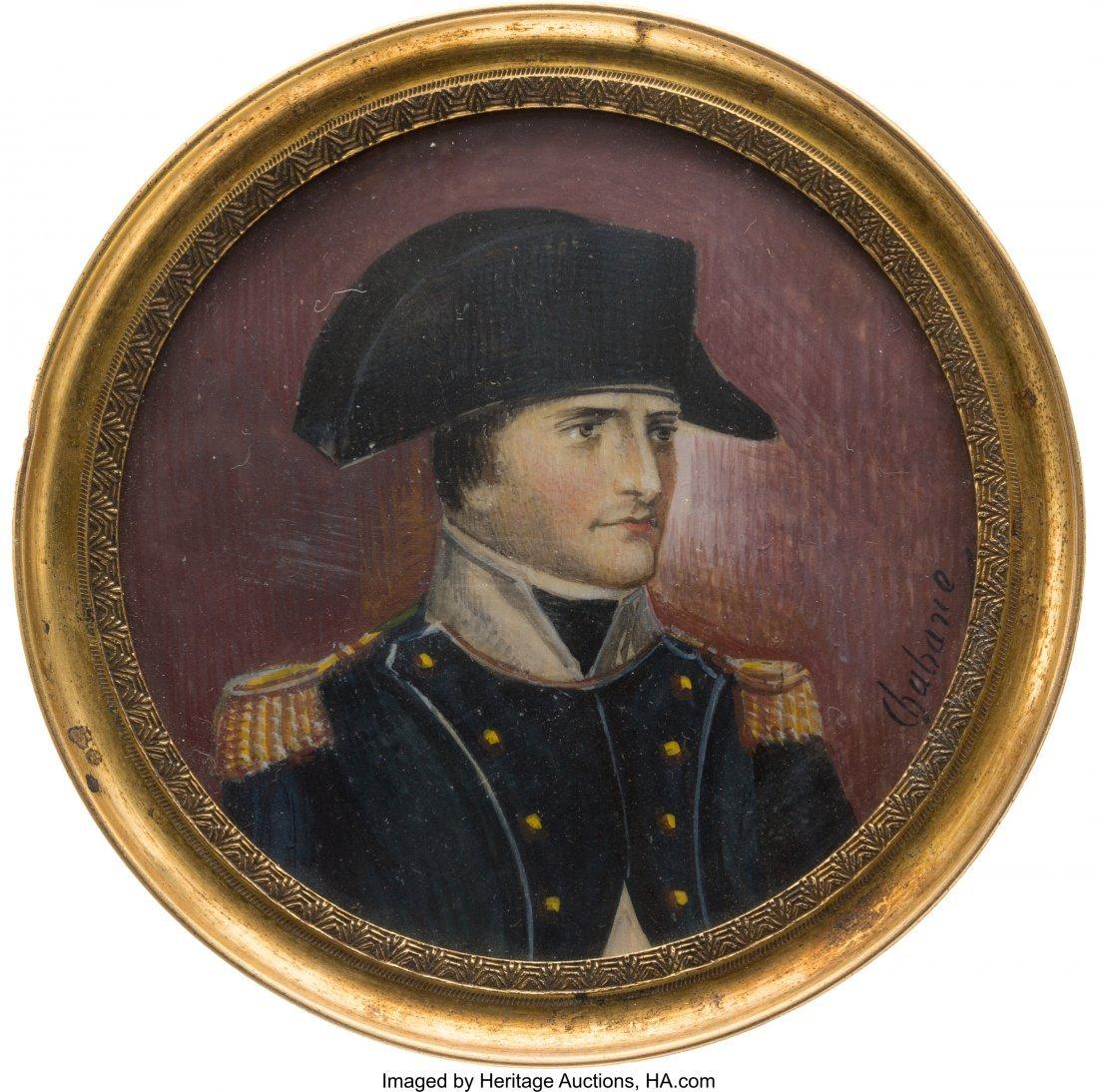 43028: Napoleon Bonaparte: Signed Miniature Portrait. N