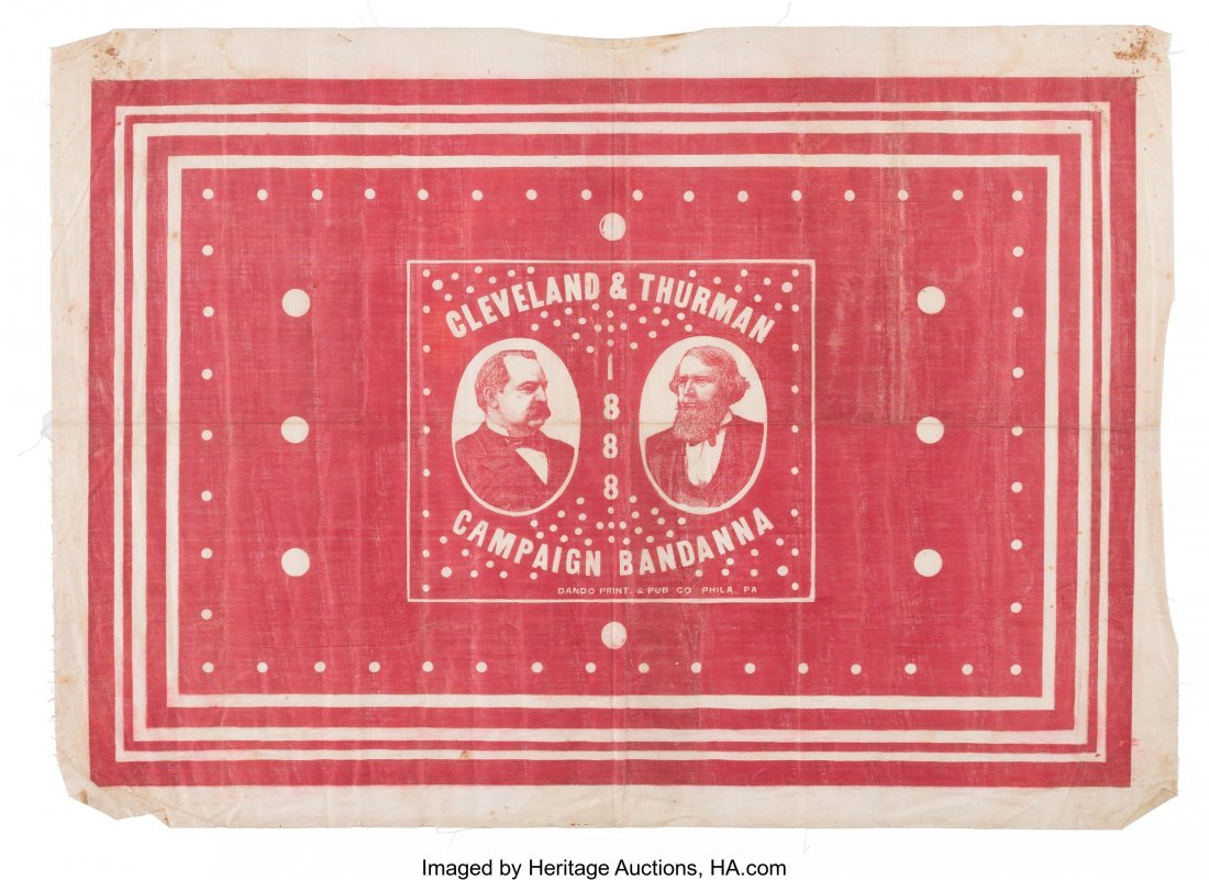 43329: Cleveland & Thurman: Great Jugate Bandana Banner