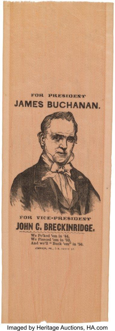 43124: James Buchanan: Mint Condition Silk Portrait Rib