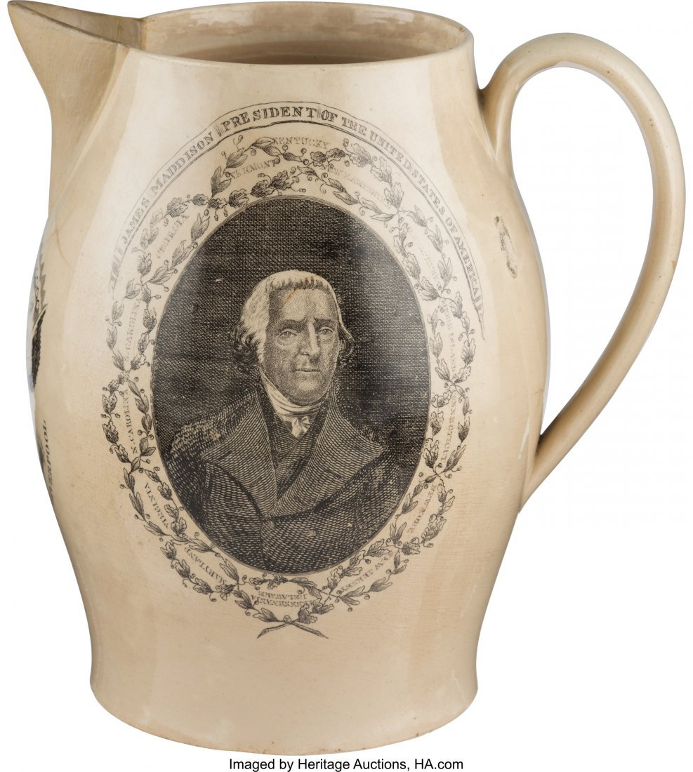 43029: James Madison: Liverpool Pitcher by Herculaneum
