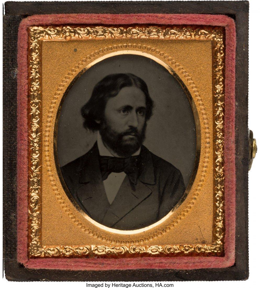 43126: John C. Frémont: Pristine Cased Ambrotype Image