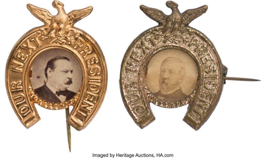 43334: Grover Cleveland and James G. Blaine: Horseshoe