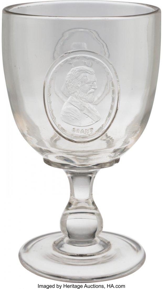 """43235: Grant & Wilson: Jugate EAPG Goblet.  6"""" clear gl"""