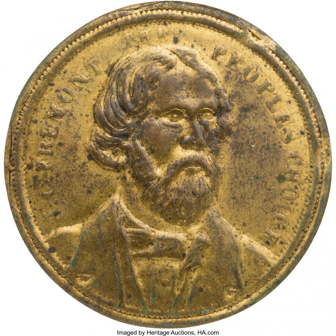 43128: John C. Frémont: Unlisted Brass Shell Piece. Si