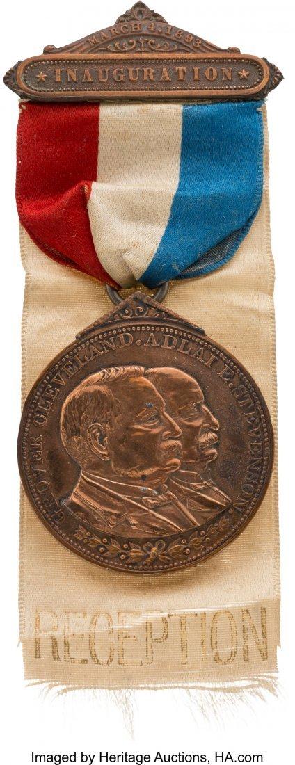 43342: Cleveland & Stevenson: Official 1893 Inaugural B
