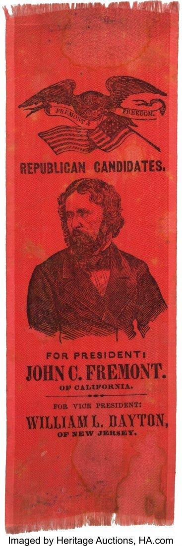 43133: John C. Frémont: Bold Portrait Ribbon on Rose S