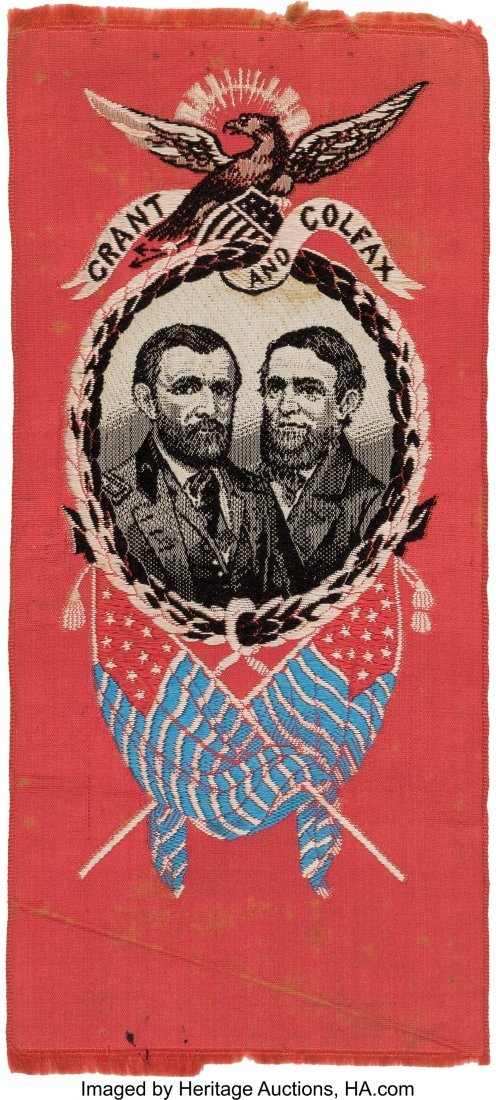 43246: Grant & Colfax: Woven Jugate Silk Ribbon on Unus