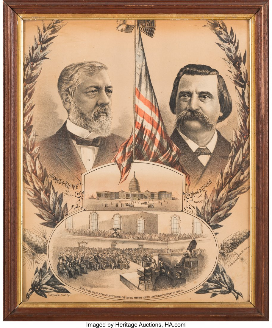 43350: Blaine & Logan: Jugate Chromolithograph Poster i
