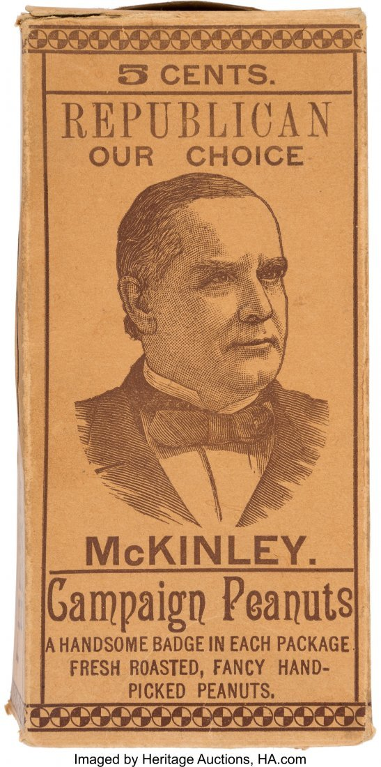 "43427: William McKinley: ""Our Choice Campaign Peanuts"""
