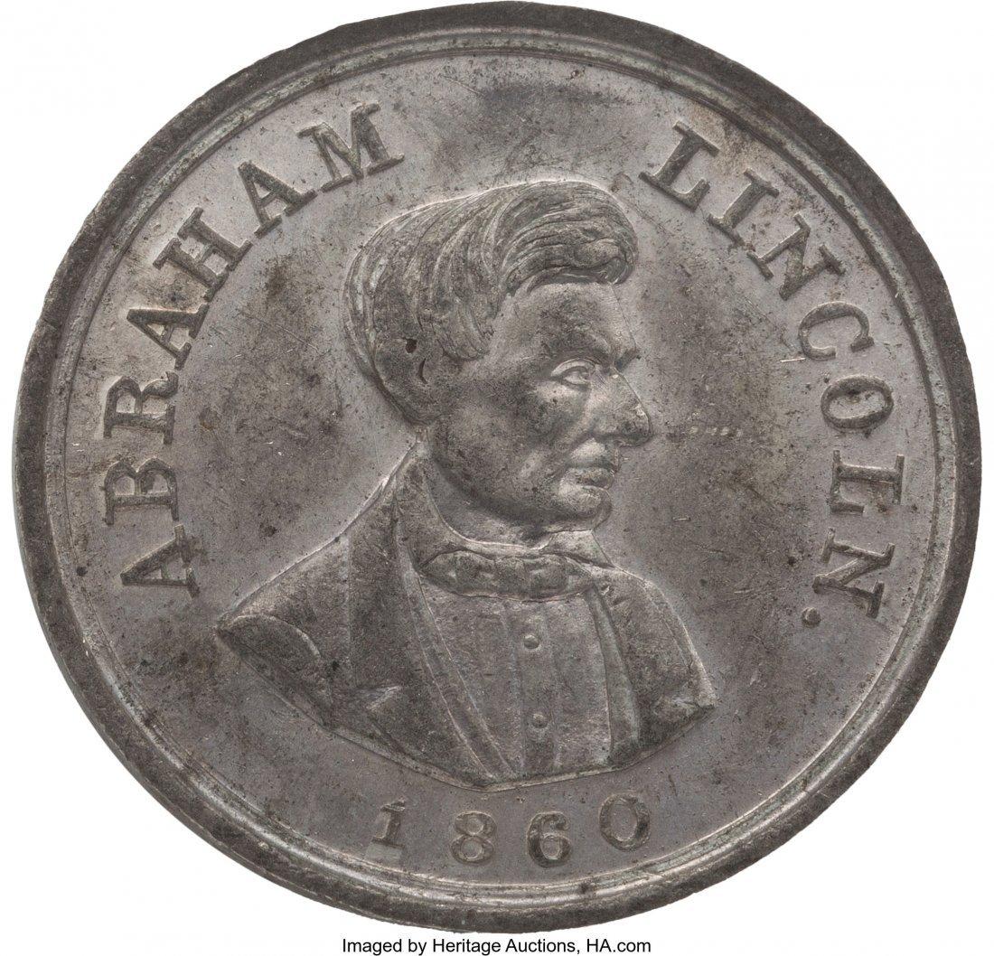 43139: Abraham Lincoln: 1860 Campaign Medal. AL-1860-55