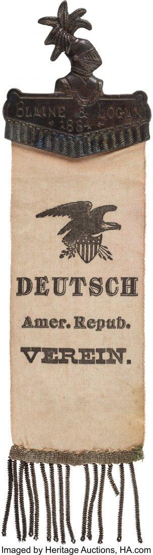 43354: James G. Blaine: German Voters Plumed Knight Rib