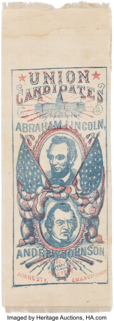 43142: Lincoln & Johnson: An Enormously Important 1864