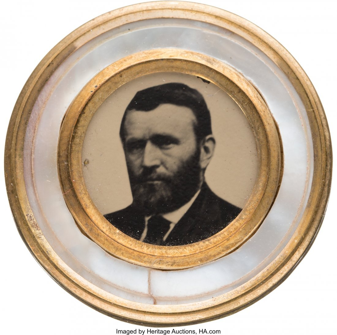 43261: Ulysses S. Grant: Possibly Unique Mother-of-Pear