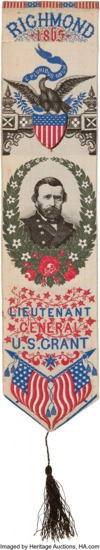 43264: Ulysses S. Grant: Colorful Woven Stevensgraph De