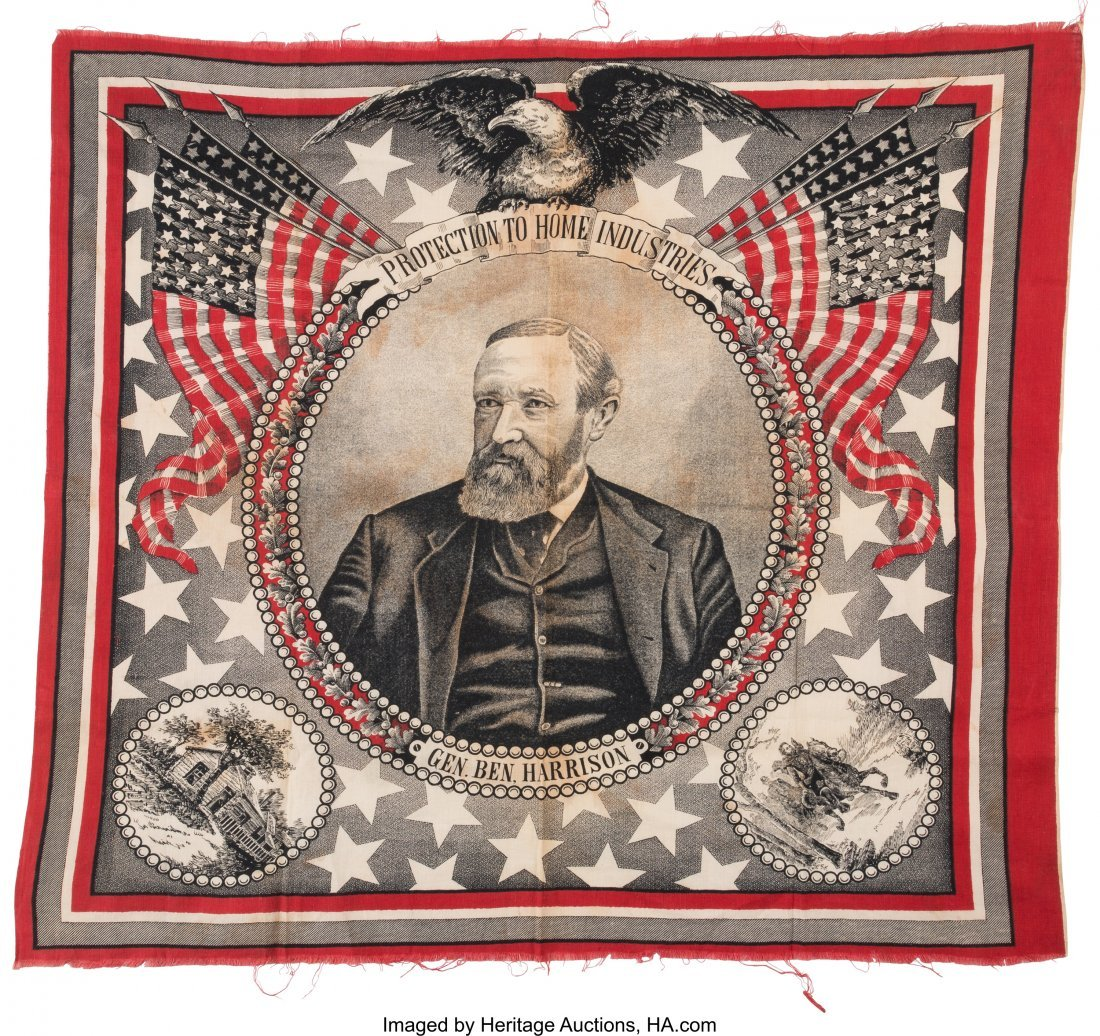 43366: Benjamin Harrison: Highly Graphic and Sought-aft