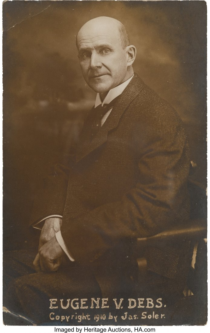 43437: Eugene V. Debs: Rare Real-Photo Post Card.  Rich