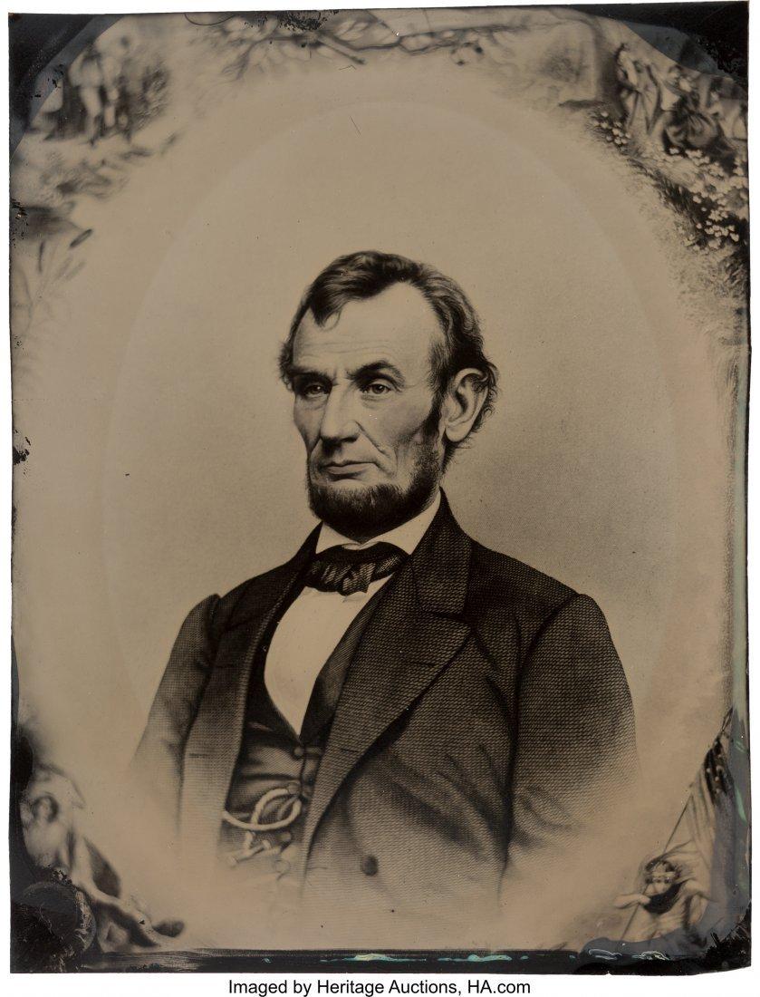 43149: Abraham Lincoln: Rare Massive Full Plate Tintype
