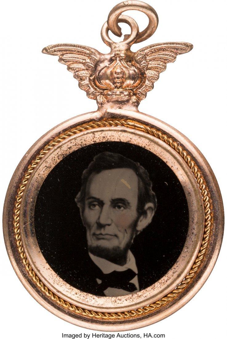 43150: Abraham Lincoln: Possibly Unique Ferrotype Penda
