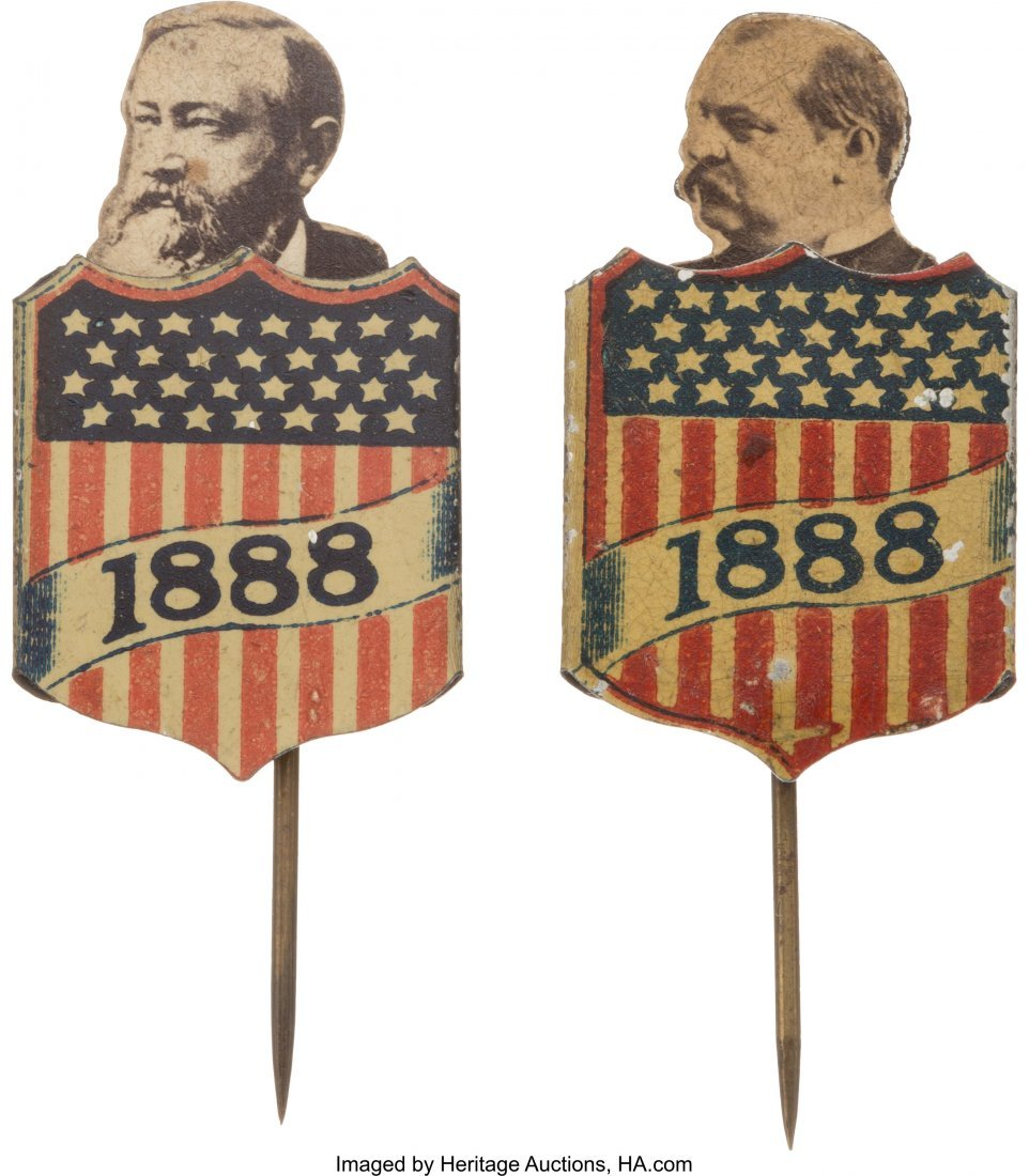 43372: Grover Cleveland and Benjamin Harrison: Pair of