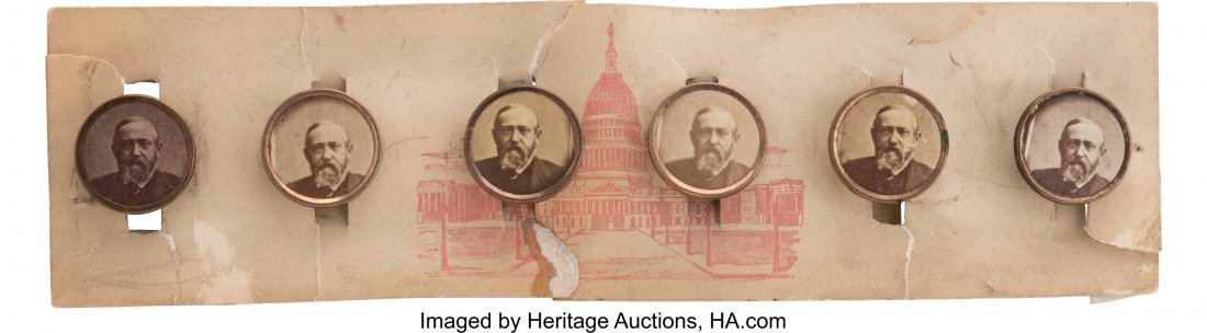 43373: Benjamin Harrison: Cardboard Studs on the Origin