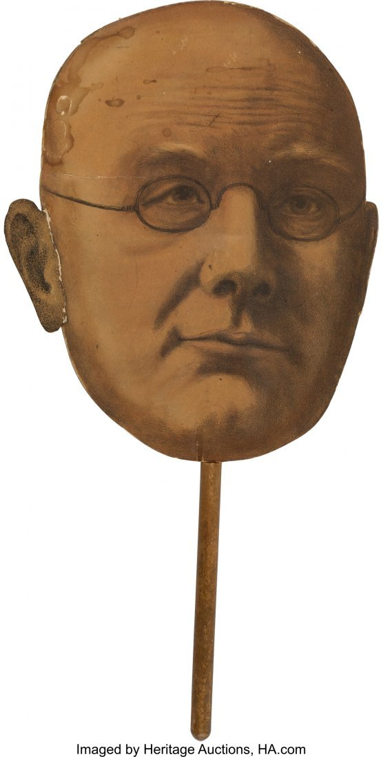 43278: Horace Greeley: Rare Satirical Campaign Hand Fan