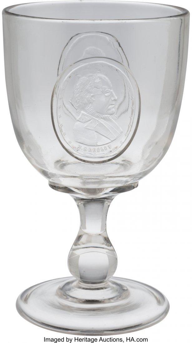 "43279: Greeley & Brown: Jugate EAPG Goblet. 6.25"" glass"