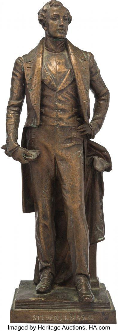 43059: Stevens T. Mason: Bronze Statue of the First Gov