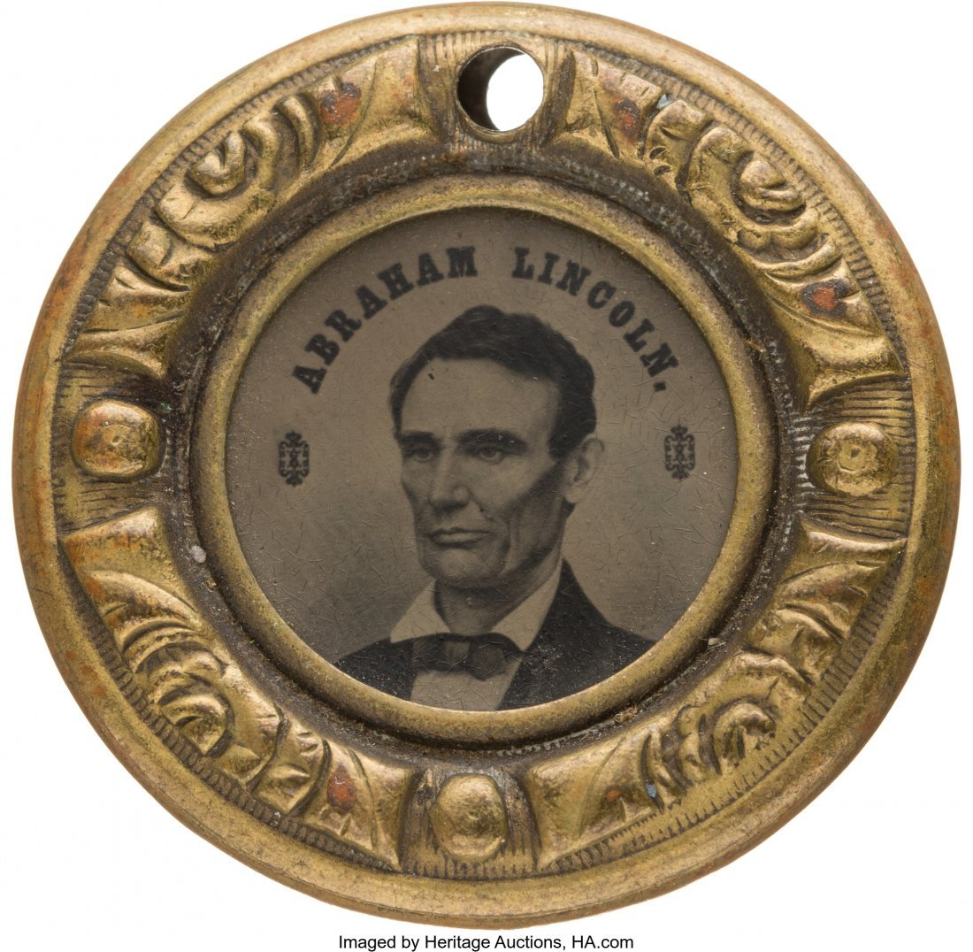 43155: Abraham Lincoln: Back-to-Back Ferrotype Doughnut