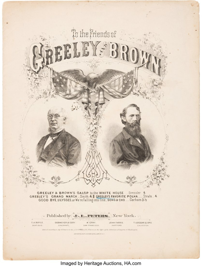 43283: Greeley & Brown: Graphic Jugate Sheet Music. 10.