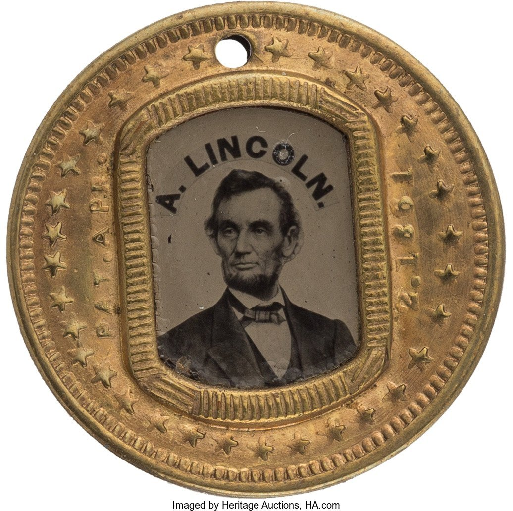 43157: Abraham Lincoln: Minty Back-to-Back Ferrotype Ba