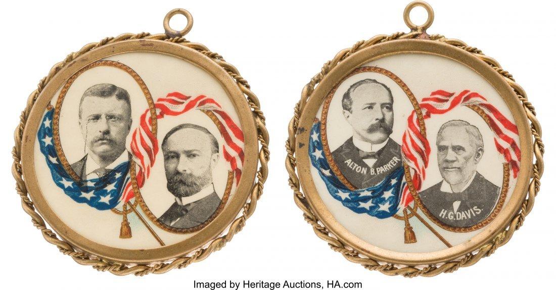 43446: Roosevelt & Fairbanks and Parker & Davis: Pair o